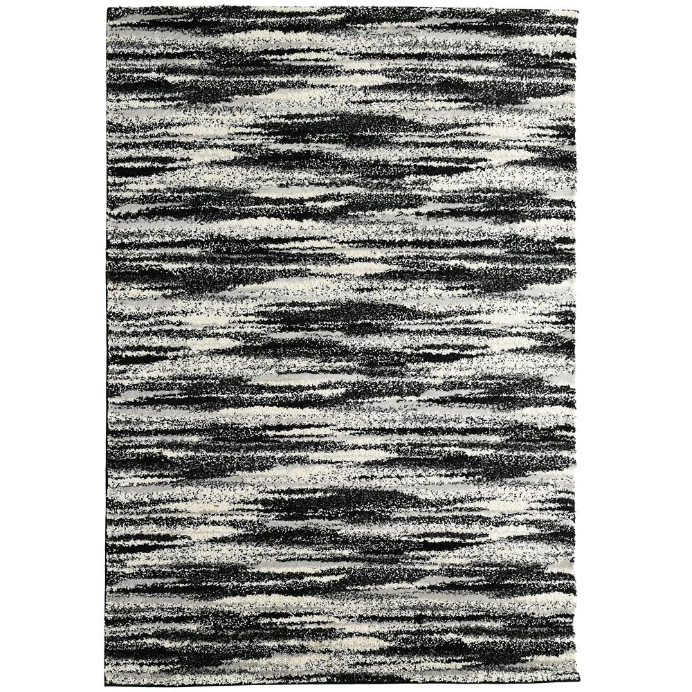 Black Scandinavia Area Rug 8 Feet x 10 Feet