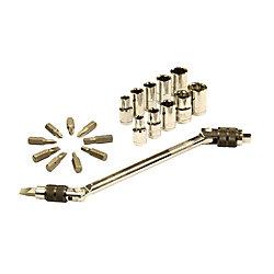 HUSKY Swivel Speed Z Hex Bit Socket and Wrench Set (21-Piece)