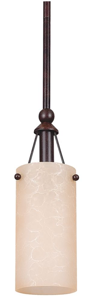 Fillament Design Atropolis 1 Light Ceiling Rubbed Bronze Compact Fluorescent Mini Pendant