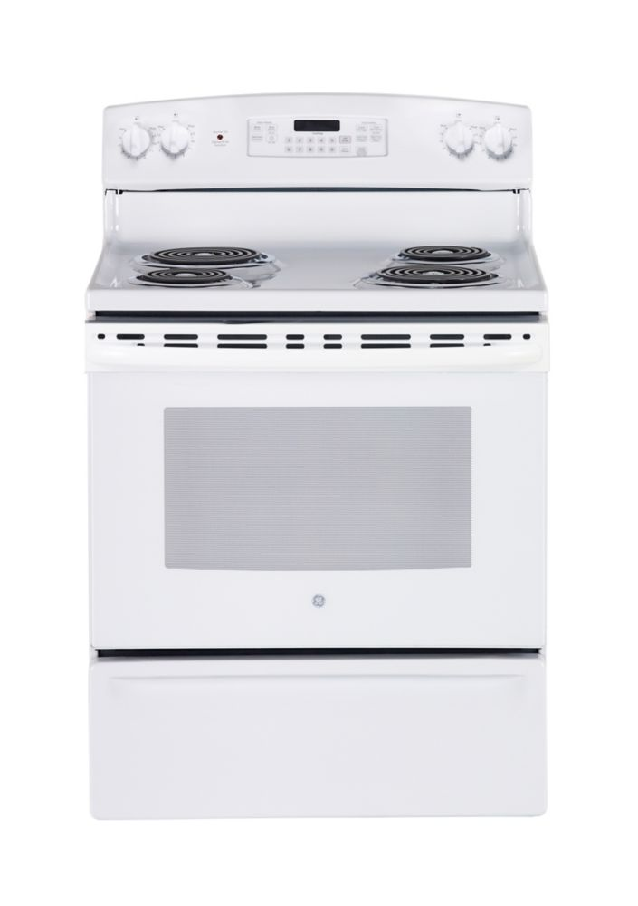 5.0 cu. ft. Free-Standing Electric Self-Cleaning Range in White