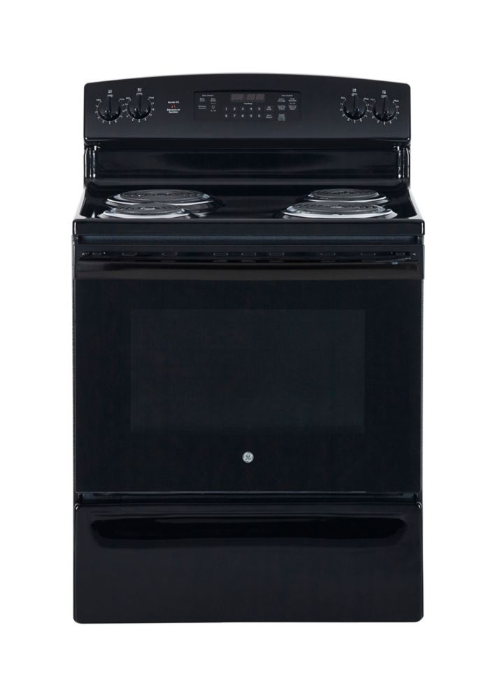5.0 cu. ft. Free-Standing Electric Self-Cleaning Range in Black