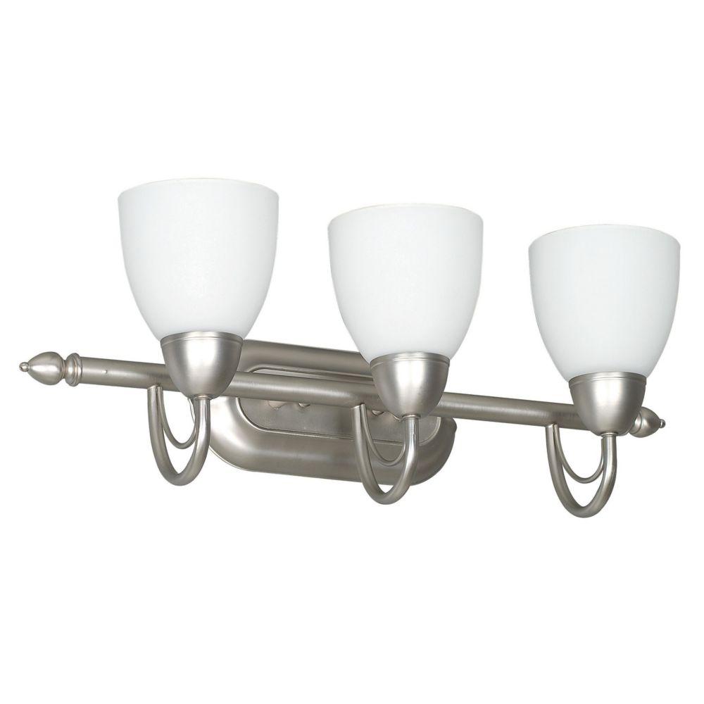 Lumière Atropolis fixée au mur à trois ampoules avec abat-jour de spécialité, finition de spécial...