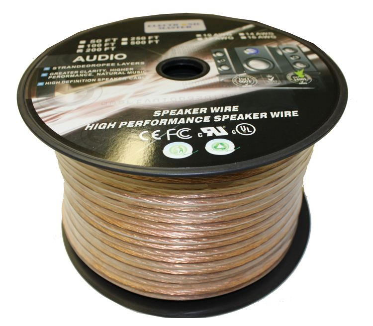 Electronic Master 200 Feet 2 Wire Speaker Cable with 12 Gauge