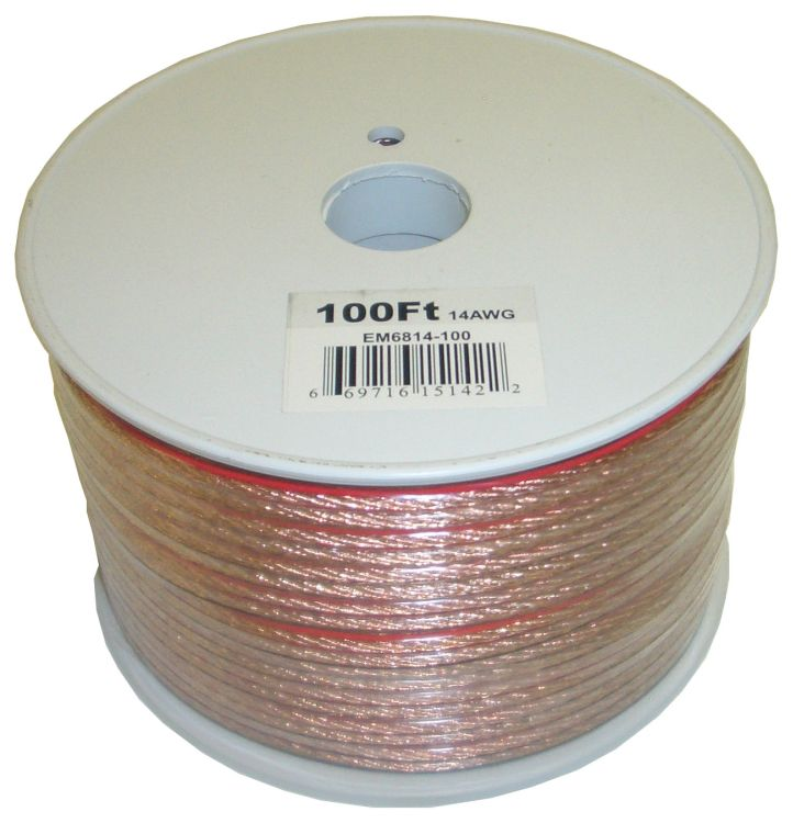 100 Feet 2 fils Speaker Cable avec 14 Gauge
