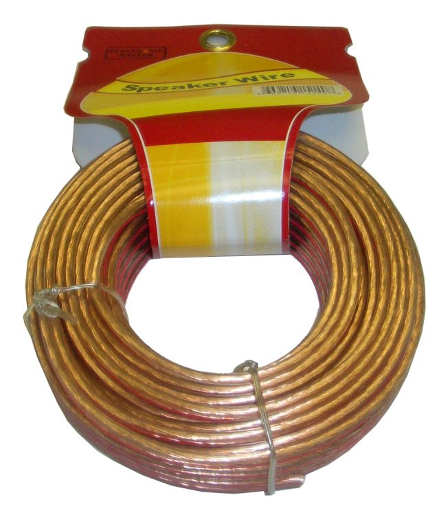 50 Feet 2 fils Speaker Cable avec 16 Gauge