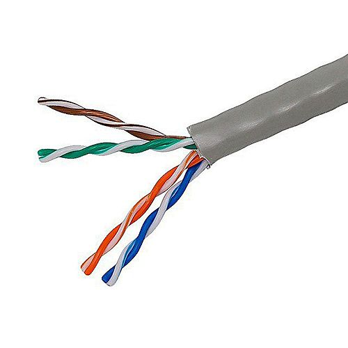 TygerWire 1000 ft. UTP CAT5E Network Cable in Grey