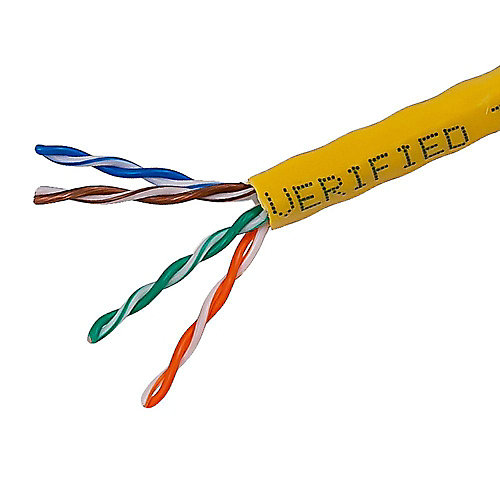 1000 ft. UTP CAT5E Network Cable in Yellow