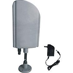 Intérieur et extérieur Antenne TV avec Booster