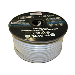 Electronic Master 250 Feet 2 Wire Speaker Cable with 12 Gauge