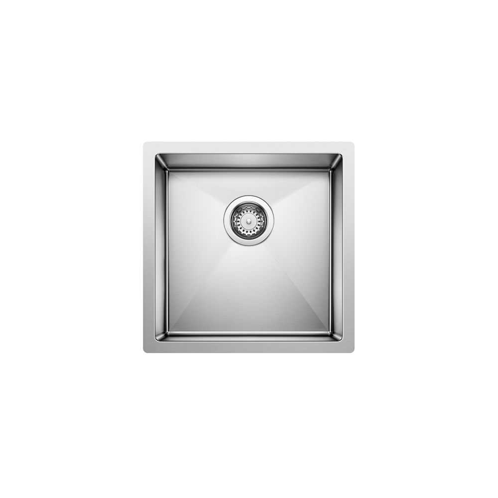 Blanco Radius 10 Bar Sink Stainless Steel 15 In.X15 In.X8 In.