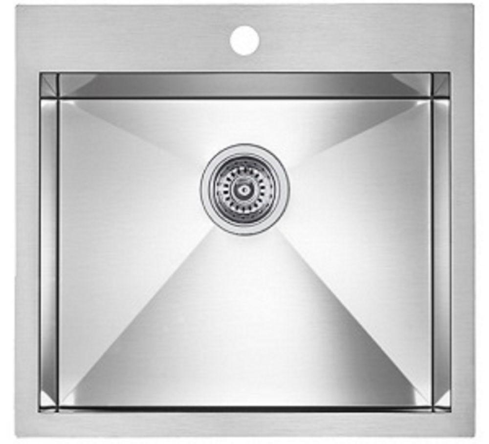 Precision microedge 1 le acier inoxydable sink 22x20