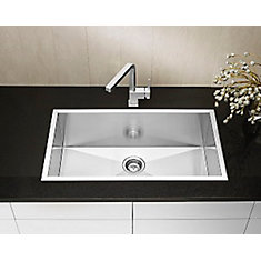 Precision Microedge Super Single Stainless Steel Sink 32X18
