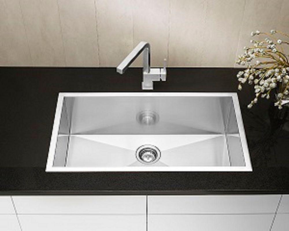 Precision microedge super single acier inoxydable sink 32x18