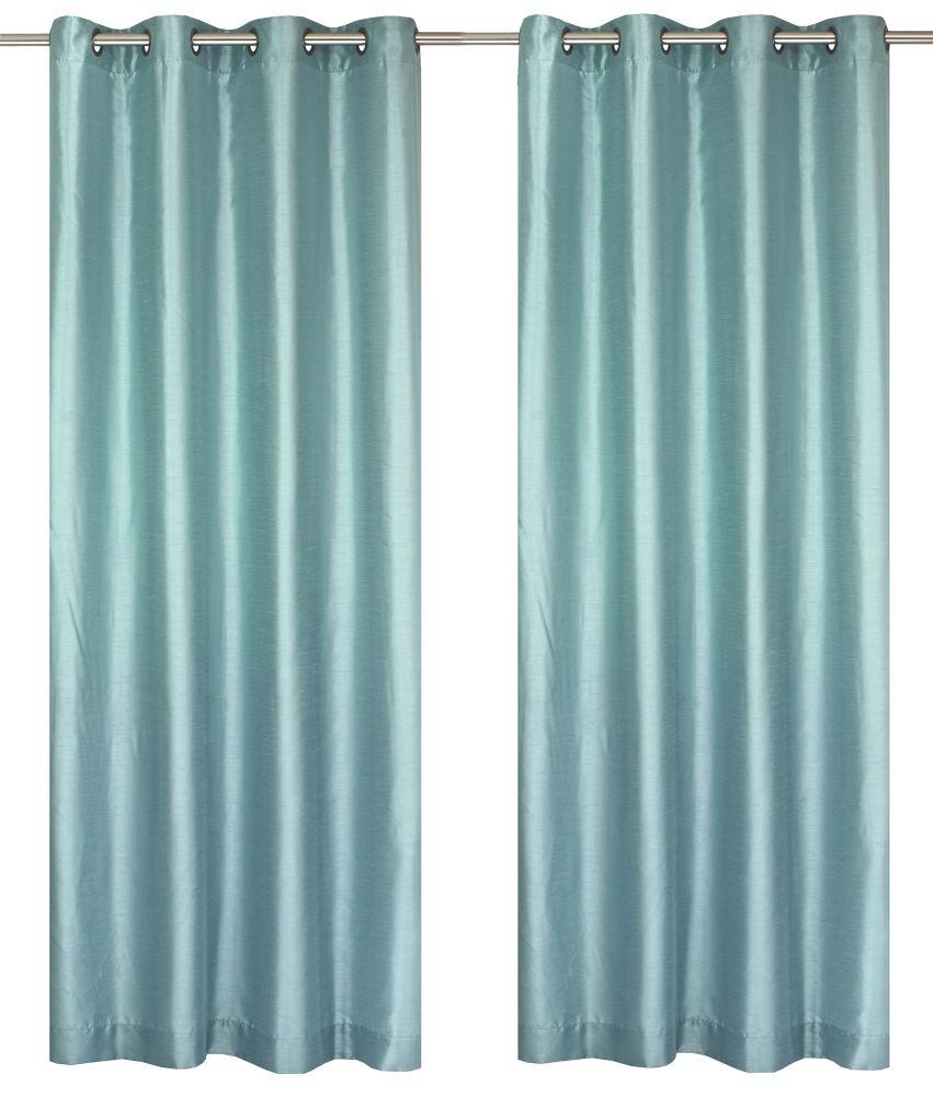 """Silkana paire de panneaux à �illets en fausse soie 56x88"""" Bleu aquarium"""