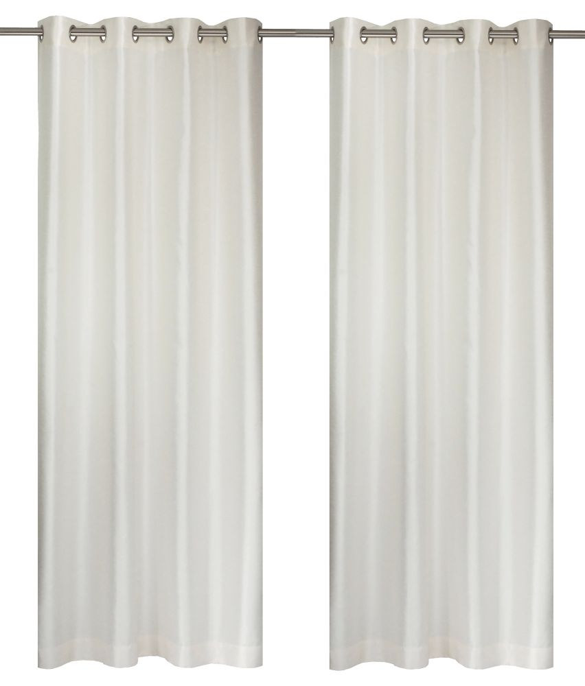Silkana Faux Silk 56x88-inch Grommet 2-Pack Curtain Set, Ivory