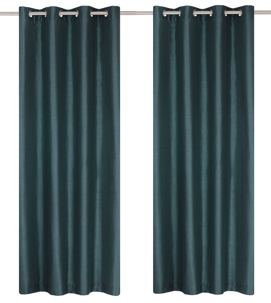 Grommet Curtain Pair 56x88 In Blue Slate 24 Canada