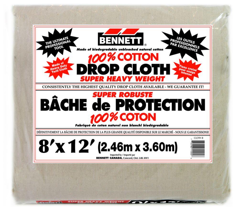 100% Cotton Drop Sheet  8 Feet X 12 Feet