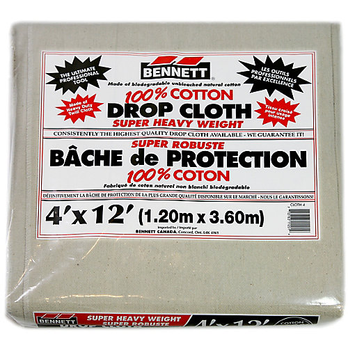 100% Cotton Drop Sheet  4 Feet X 12 Feet