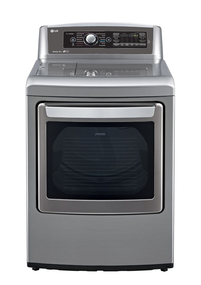 7.3 cu. ft. Ultra-Large capacity Electric SteamDryer with EasyLoad� Door in Graphite Steel