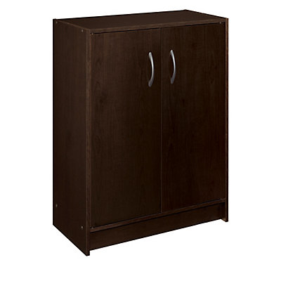 Closetmaid 30 In H X 24 W 12 D Espresso Raised Panel Wall Storage Cabinet