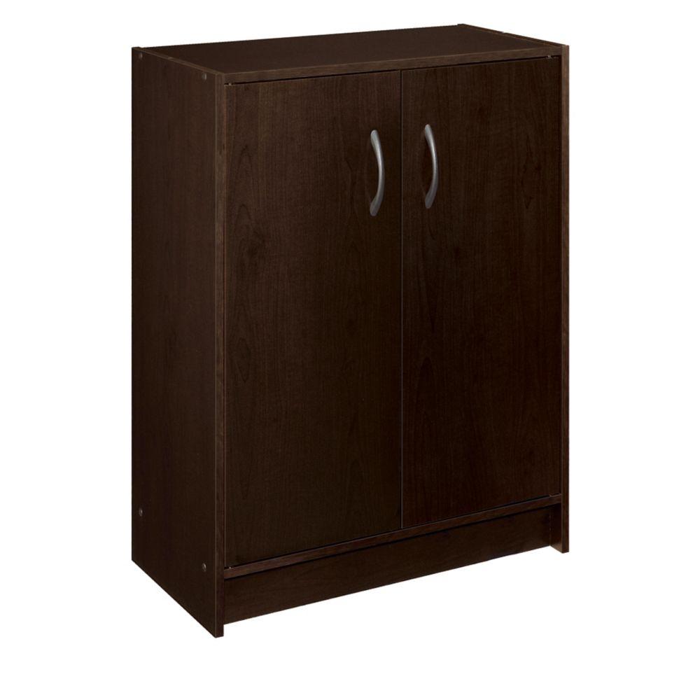 ClosetMaid ClosetMaid 30 in. H x 24 in. W x 12 in. D Espresso Raised Panel Wall Storage Cabinet