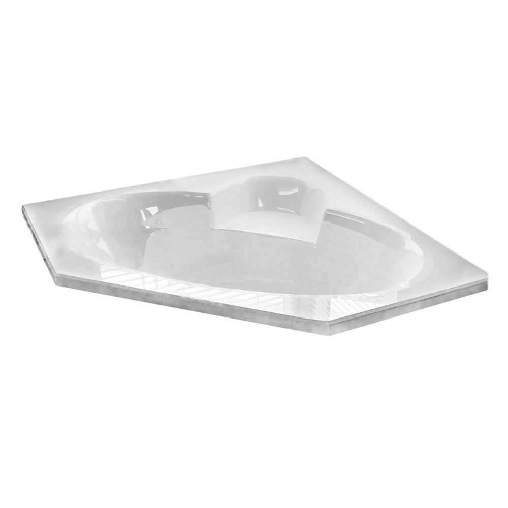 Malachite 5 Feet Corner Air Jetted Bathtub