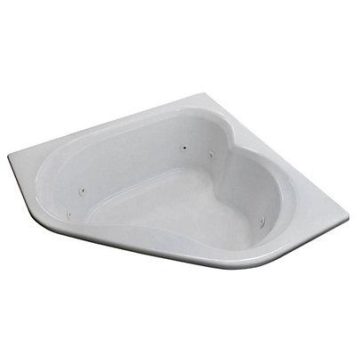 universal tubs beryl 5 feet corner whirlpool jetted bathtub | the