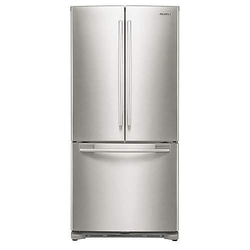 18 cu.ft. 3-Door French Door Counter-Depth Refrigerator with Twin Cooling in Stainless Steel