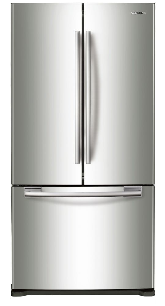 18 cu. ft. 3-Door French Door Counter-Depth Refrigerator with Twin Cooling in Stainless Steel
