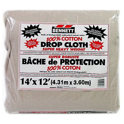 14 Feet X 12 Feet Cotton Drop Cloth