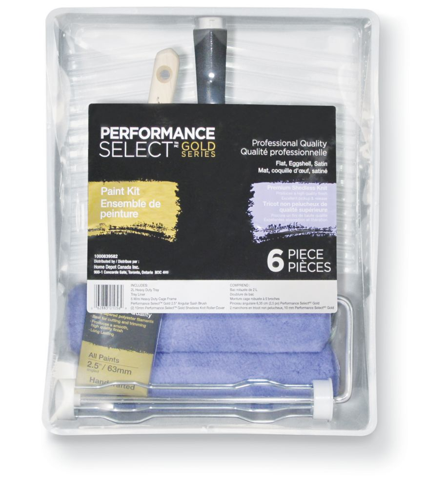Performance Select Gold 6pc Shedless Knit Paint Kit
