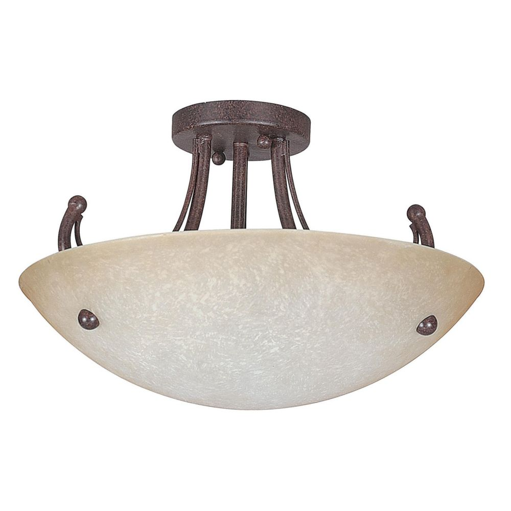 Atropolis 2 Light Ceiling Rubbed Bronze Compact Fluorescent Semi-Flush Mount CLI-SST507440 Canada Discount