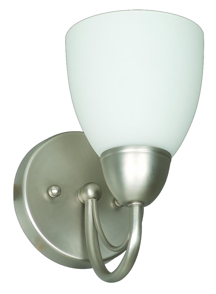 Atropolis 1 Light Wall Satin Nickel Incandescent Wall Sconce