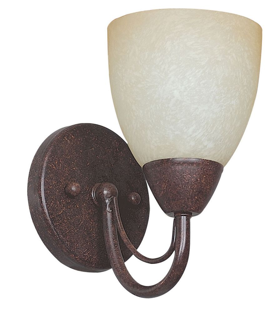 Atropolis 1-Light Wall Rubbed Bronze Wall Sconce