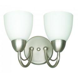 Fillament Design Lumière Atropolis fixée au mur à deux ampoules avec abat-jour de spécialité, finition de spécialité