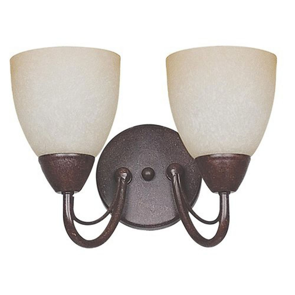 Atropolis 2-Light Wall Rubbed Bronze Wall Sconce