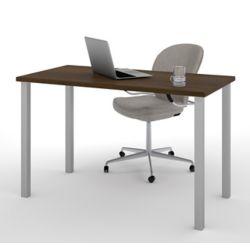 Bestar 47.6-inch x 29-inch x 24-inch Standard Computer Desk in Brown