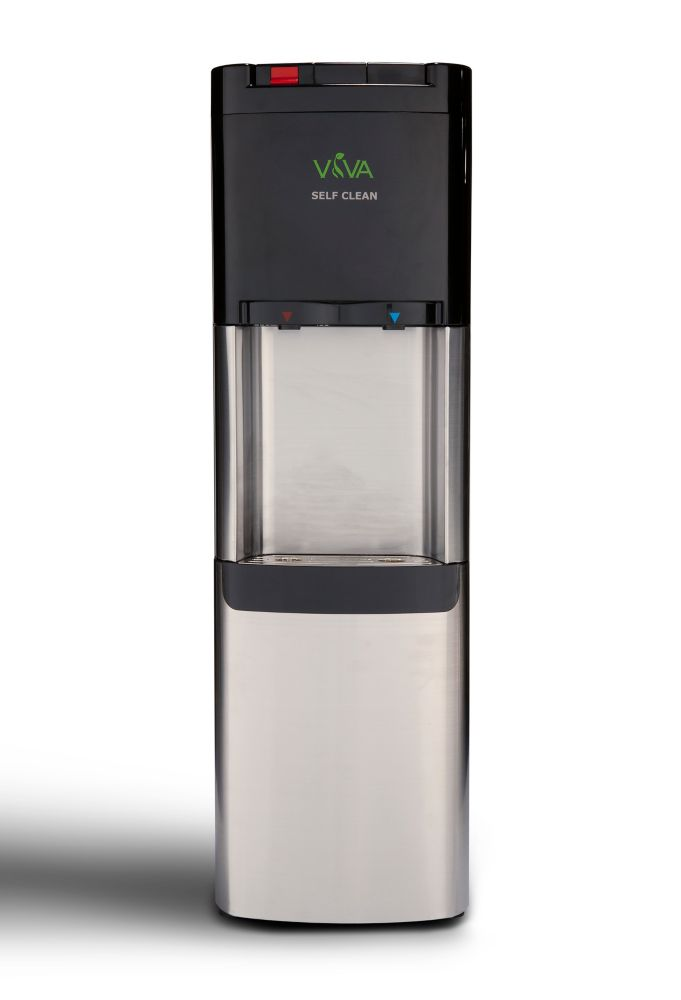 Viva Stainless Steel Top Load Water Cooler With Hot And Cold Water.