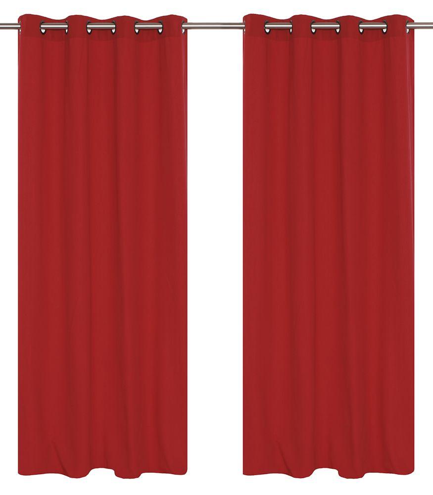 """paire de rideaux en 54x95"""" Rhubarbe"""