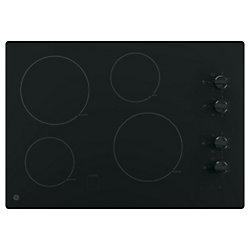Table de cuisson électrique de 30 pouces en noir avec 4 éléments