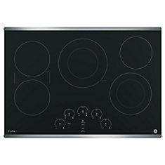 GE Table de cuisson électrique 30 po, Acier inoxydable