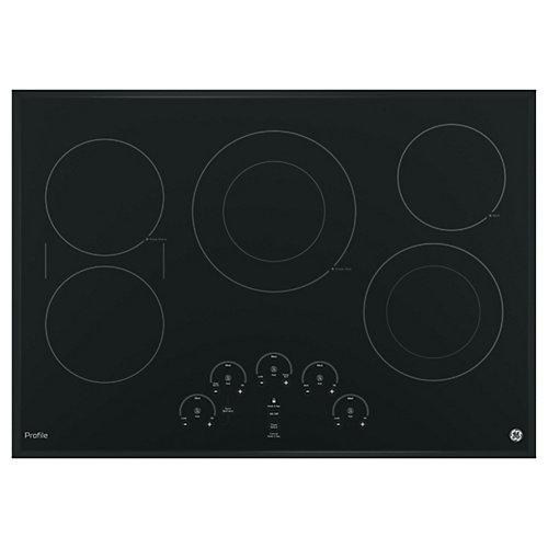 Table de cuisson électrique de 30 pouces en noir avec 5 éléments