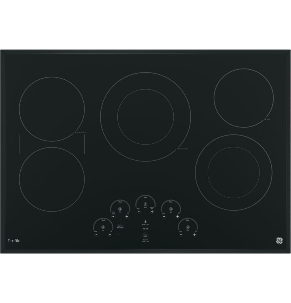 GE Profile 30-inch induction Electric Cooktop in Black with 5 Elements