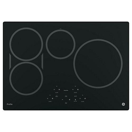 Table de cuisson à induction électrique de 30 po W à 4 éléments et à ajustement parfait en noir