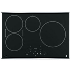30-inch W Induction Cooktop with 4 Elements in Stainless Steel