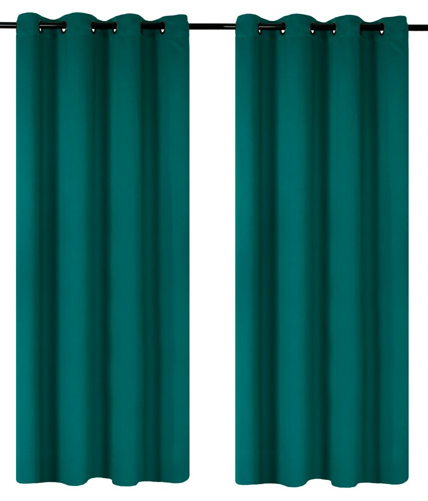 Luxura Room Darkeing, Insulating 56x95-inch Grommet 2-Pack Curtain Set, Teal Green