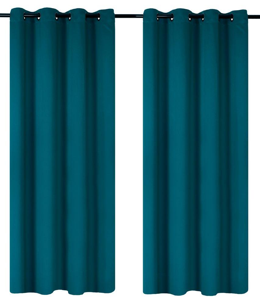 Luxura Room Darkeing, Insulating 56x95-inch Grommet 2-Pack Curtain Set, Peacock Blue