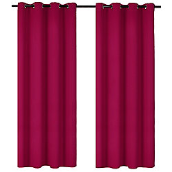 LJ Home Fashions Luxura Light Reducing Insulating Grommet Curtain Panels 56x95-in, Hot Pink (Set of 2)