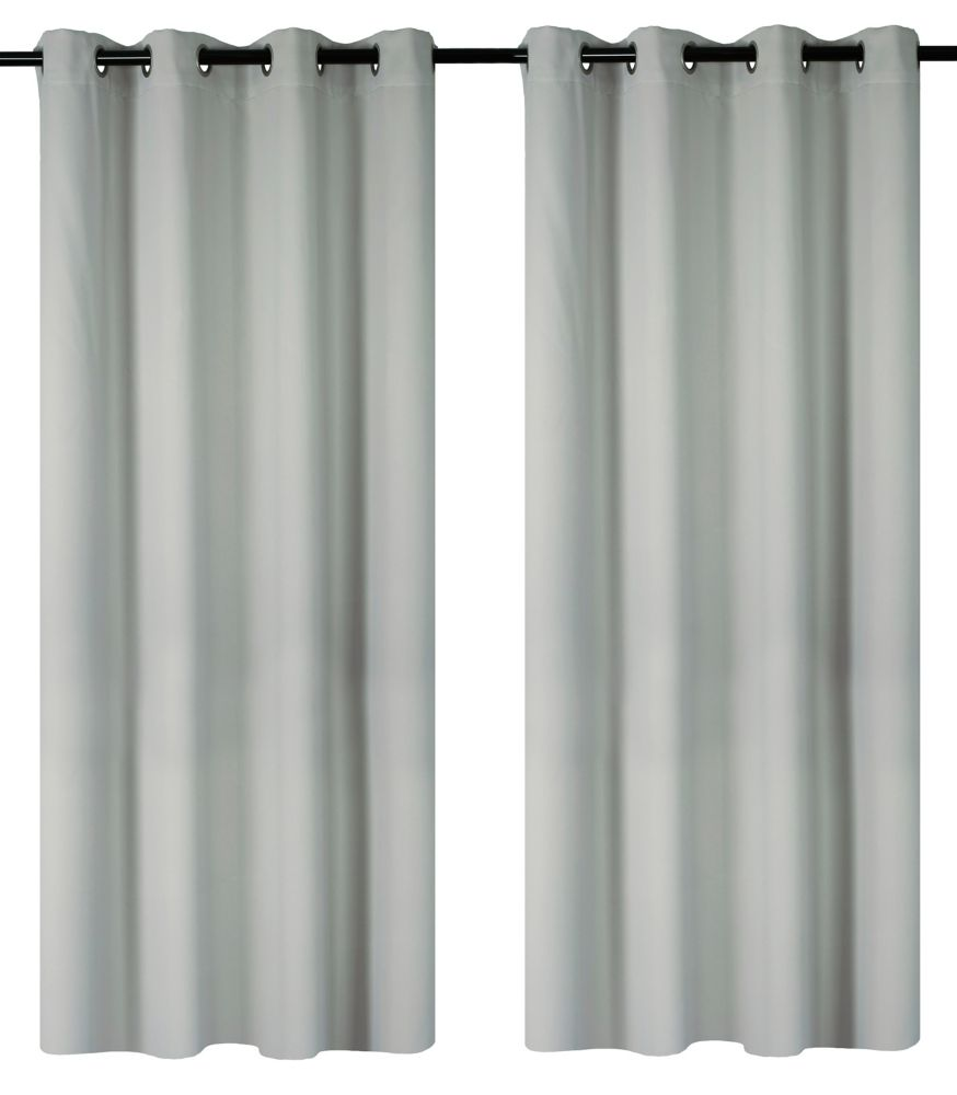 Luxura Room Darkeing, Insulating 56x95-inch Grommet 2-Pack Curtain Set, Silver