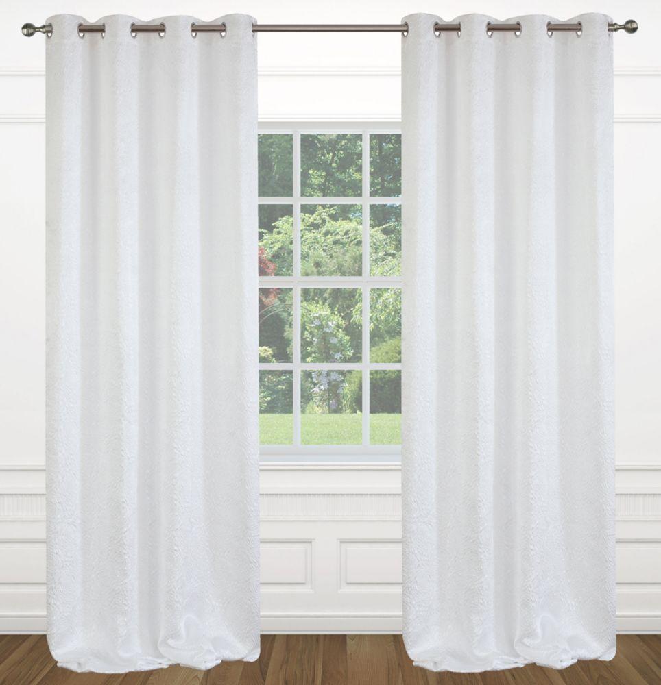 "Raindrops 54""x95"" inch Grommet 2-Pack Curtain Set,  White"